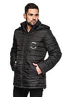 Мужская стеганная куртка весна/осень черная