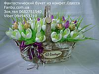 """Букет подснежников из конфет """"Первый снег"""""""