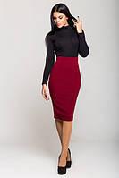Бордовая женская юбка Карандаш   Leo Pride 42-46 размеры