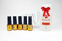"""5 Гель лаков FOX """"Pigment"""" 6 мл + подарок"""