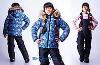 Детский зимний комбинезон Снежинки на рост 104-122см