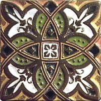 Декоративная плитка. Бронза покрытая эмалью. Zodiac (5x5)