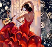 """Картина по номерам без упаковки """"В ритме танца"""", 40х40см (КНО2641)"""