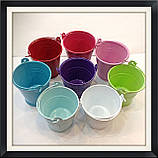 Відро декоративне кольорове (маленьке), фото 5