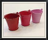 Відро декоративне кольорове (маленьке), фото 2