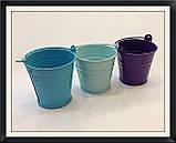 Відро декоративне кольорове (маленьке), фото 3