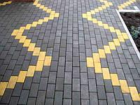 Тротуарная плитка Кирпичик 25мм Серый