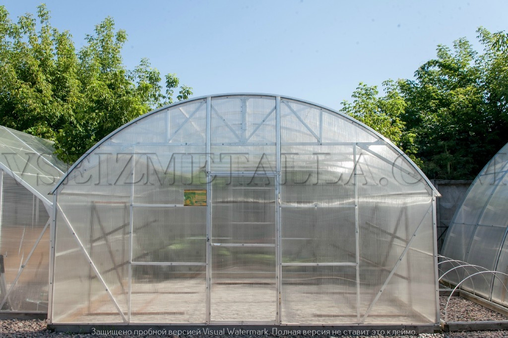 Теплицы из поликарбоната на алюминиевом каркасе