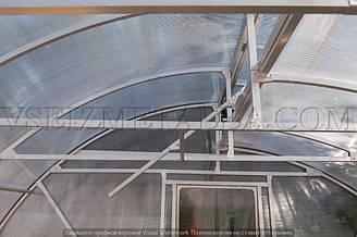 Крыша теплицы изнутри