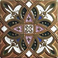 Декоративная плитка. Латунь покрытая эмалью. Zodiac (7,5x7,5) + эмаль