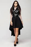 Черная женская юбка Кашемир   Leo Pride 44-48 размеры