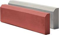 Поребрик (бордюр) 65x15x5cм серый и цветной