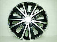 Колпаки R14 Elegant Rapid silver&black (4шт.)
