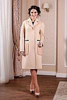 Модное женское пальто из кашемира в 4х цветах В-998