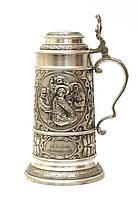 Пивной бокал, кружка, Zinn, Олово, Германия, 1 литр, фото 1