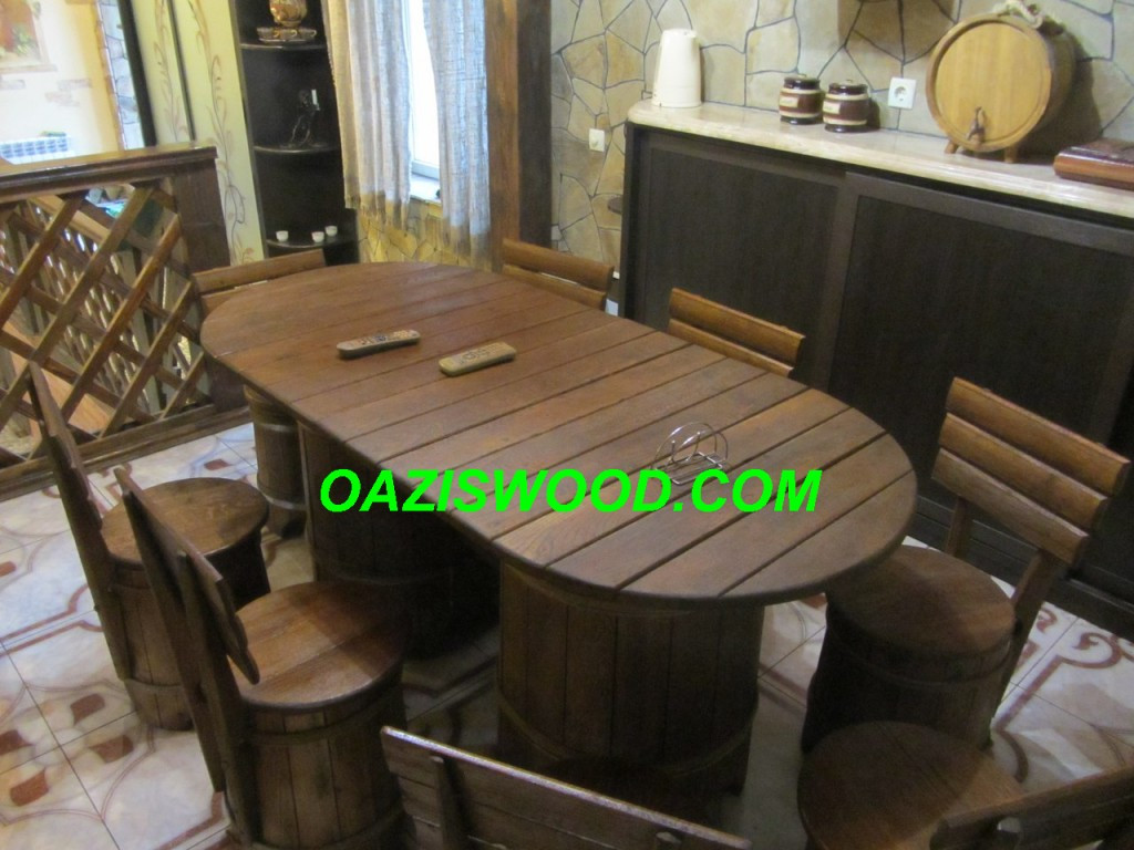 Мебель из дубовых бочек