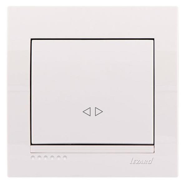 Lezard Deriy Выключатель промежуточный Белый