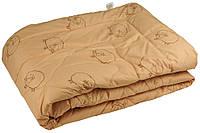 """Демисезонное  одеяло """"Барашка"""" из чесаной овечьей шерсти, полуторное."""