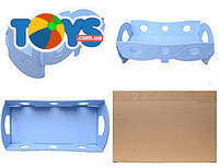 Кроватка для кукол, голубая, К055