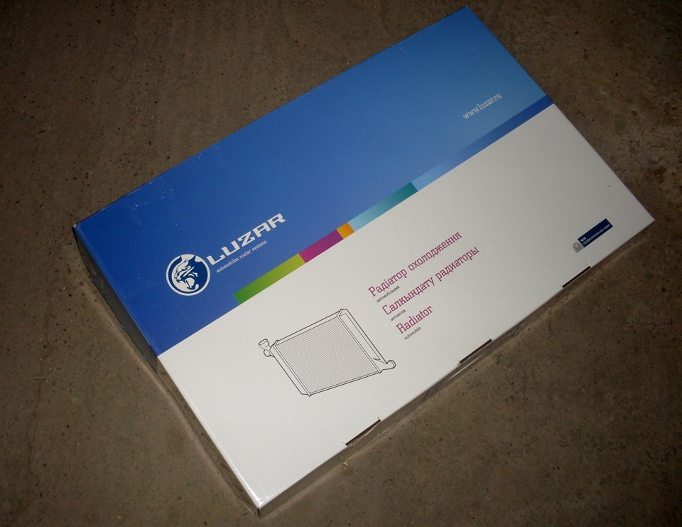 Радиатор водяного охлаждения, основной ВАЗ 2108-099, 2113-2115 Карбюратор LUZAR, Лузар