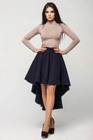 Темно-синяя женская юбка Кашемир  Leo Pride 44-48 размеры