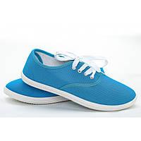 Женские мокасины 011 голубой