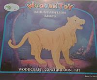 Горный лев - сборная деревянная 3D модель (3 пластины)