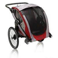 Baby Jogger Велоприцеп-коляска POD crimson/gray