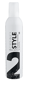 "Пена для укладки волос ""Кристал"" нормальная фиксация C:EHKO Style Styling Mousse Crystal 400 мл."