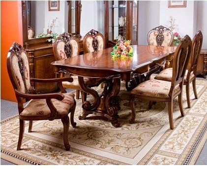 Обеденные столы из массива гевеи