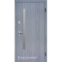 Двери входные металлические с МДФ Steelguard™ модель AV-5 дуб вулкано Винорит