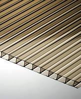 6 мм, сотовый поликарбонат, Дымчатый