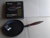 Сковорода чугунная  Премиум класса, с деревянной ручкой, d=220мм, h=40мм