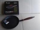 Сковорода чугунная  Премиум класса, с деревянной ручкой, d=220мм, h=40мм, фото 1