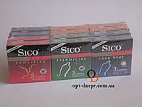 Презервативы Sico 36 штук 1 блок 12 пачек по 3 шт. Ассорти в блоке 6 видов