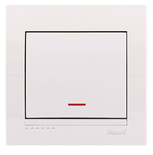 Lezard Deriy Выключатель с подсветкой Белый