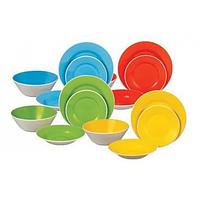 Столовый набор посуды Maestro 19 предметов (желтый, зеленый, красный, синий)