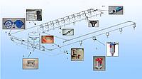 Цепь-шайбовая система кормораздачи