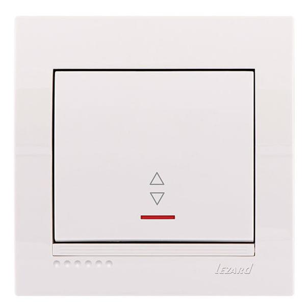 Lezard Deriy Выключатель проходной с подсветкой Белый