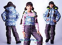 Детский зимний комбинезон Снеговики
