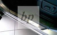 Защитные хром накладки на пороги Nissan X-Trail T-31 (ниссан икс-трейл 2007-2014)