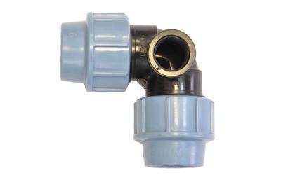 Отвод компрессионный 25*25 с внутренней резьбой 1/2  Unidelta