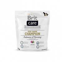 Brit Care (Брит Кеа) DOG SHOW Champion 1кг - гипоаллергенный корм для выставочных собак (лосось/сельдь/рис)