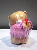 Мишка с подарком - мыло ручной работы