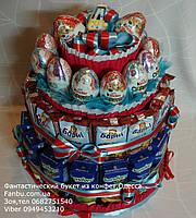 Детский торт из сока,барни и киндер яиц на детский праздник №15, фото 1