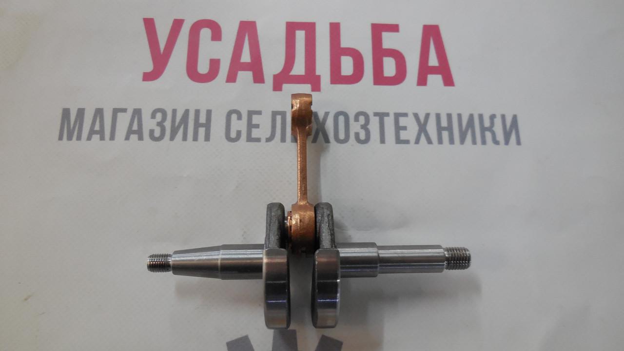 Коленвал + шатун на бензопилу Vitals,Sadko, Foresta, Днипро, Кентавр, Forte, Бригадир