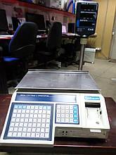 Торговые весы с принтером CAS LP-1-15 vs 1.6 R. RS-232.DUAL б/у , чекопечатающие весы б.у. весы торговые бу