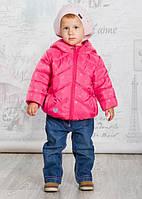 Evolution Куртка для дівчинки 07-ВД-17 р80-104 малиновий