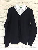 Кофта-рубашка обманка. 140-158