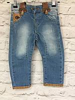 Детские джинсы на подтяжках, одежда для мальчиков на 1-5 лет